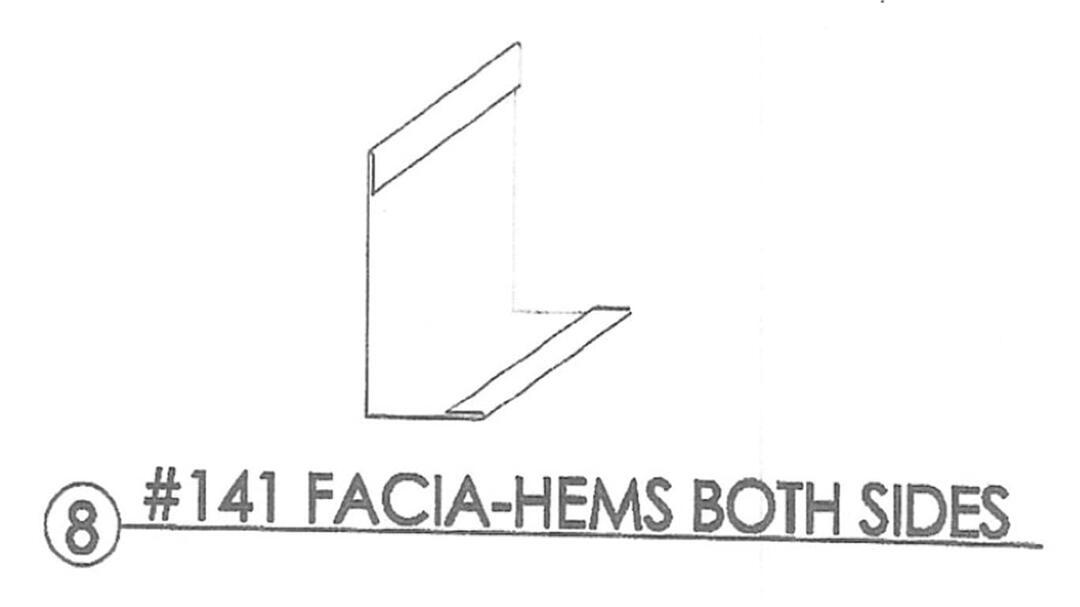 8 Residentialflashing 141 Facia Hems Both Sides